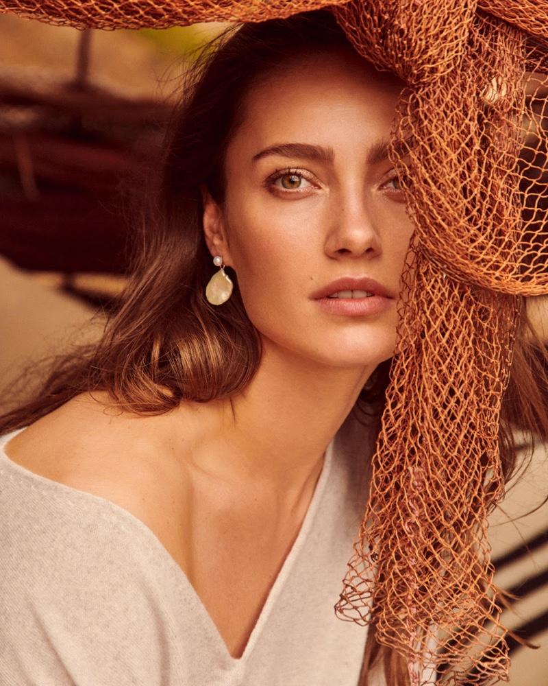 Model Karmen Pedaru appears in Oui spring-summer 2020 campaign