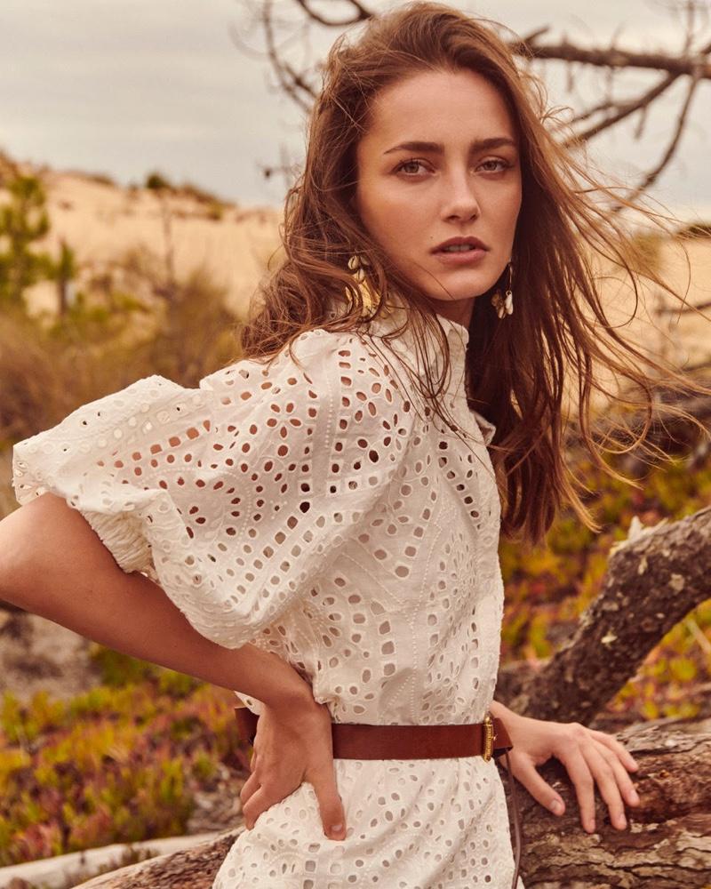 Model Karmen Pedaru fronts Oui spring-summer 2020 campaign