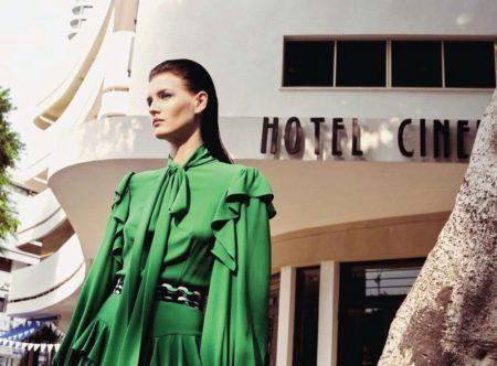 Katlin Aas Tries On Vibrant Styles for Harper's Bazaar Germany