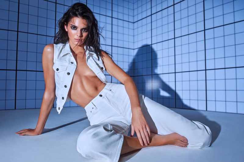 Kendall Jenner poses in denim for Calvin Klein Deal With It campaign