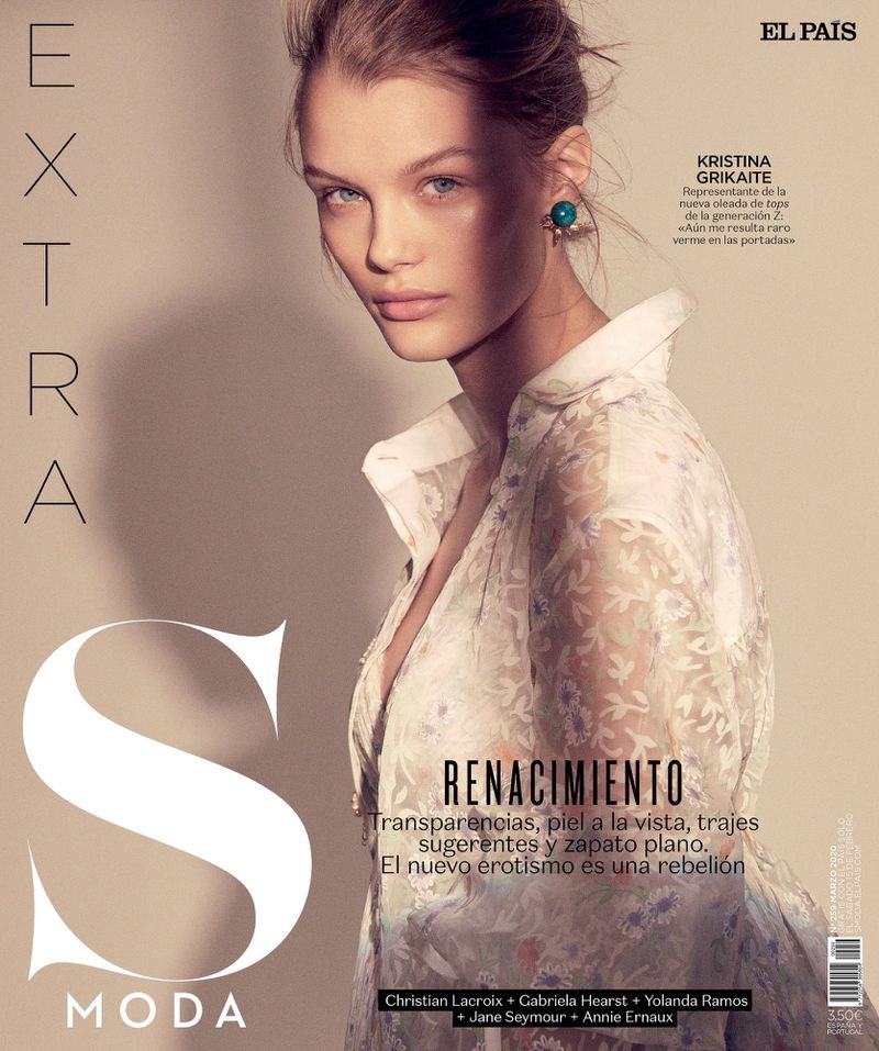 Kris Grikaite Poses in Charming Fashions for S Moda