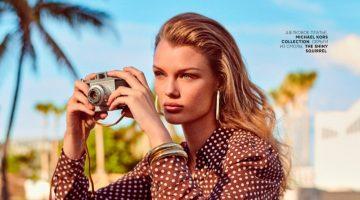 Kris Grikaite Takes a Stylish Beach Trip for Vogue Russia