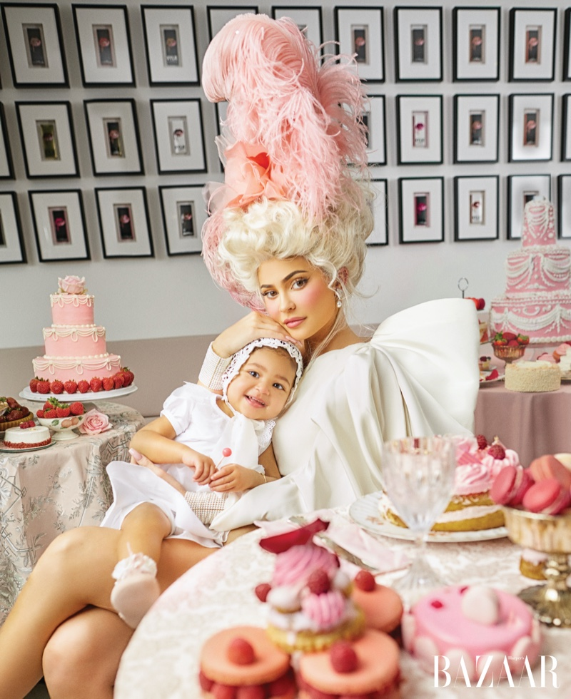 Posing with Stormi, Kylie Jenner evokes the style of Marie Antoinette