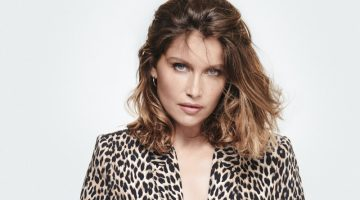 Model Laetitia Casta rocks animal print for IKKS spring-summer 2020 campaign