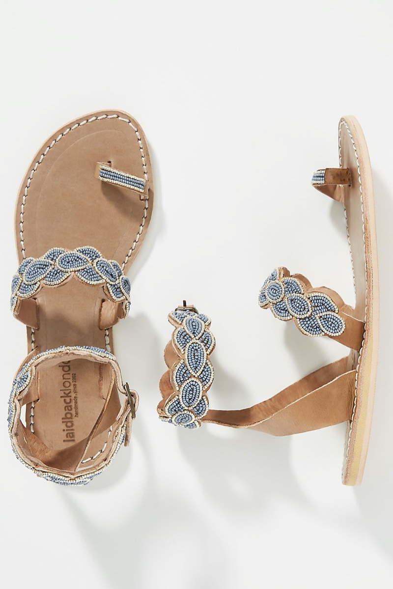 Laidback London Rumi Sandals in Blue $110