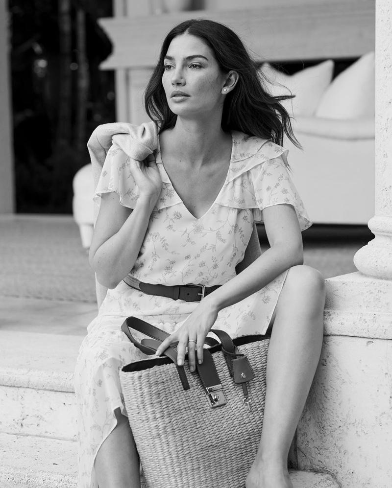 A breezy dress stands out in Lauren Ralph Lauren spring-summer 2020 campaign.