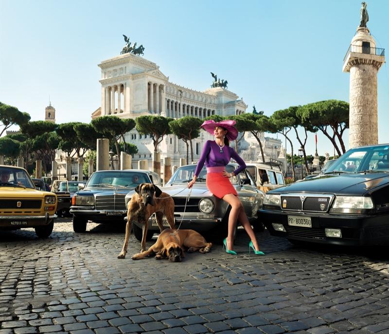 Model Lily Aldridge poses in Bulgari Mai Troppo campaign
