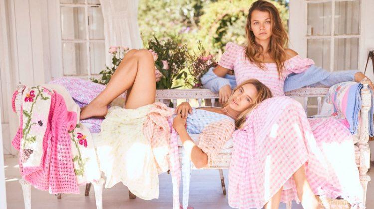 Maya & Alannah Enchant in LoveShackFancy Spring 2020 Campaign