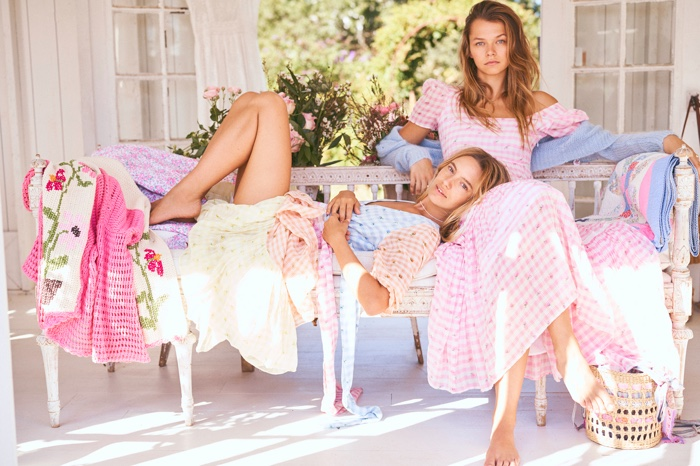 Maya Stepper and Alannah Walton front LoveShackFancy spring 2020 campaign