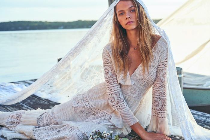 Alannah Walton looks ethereal in LoveShackFancy spring 2020 campaign
