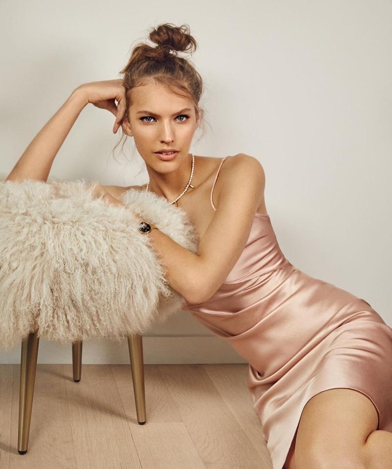 Maggie Jablonski Models Lingerie Looks for ELLE Slovenia