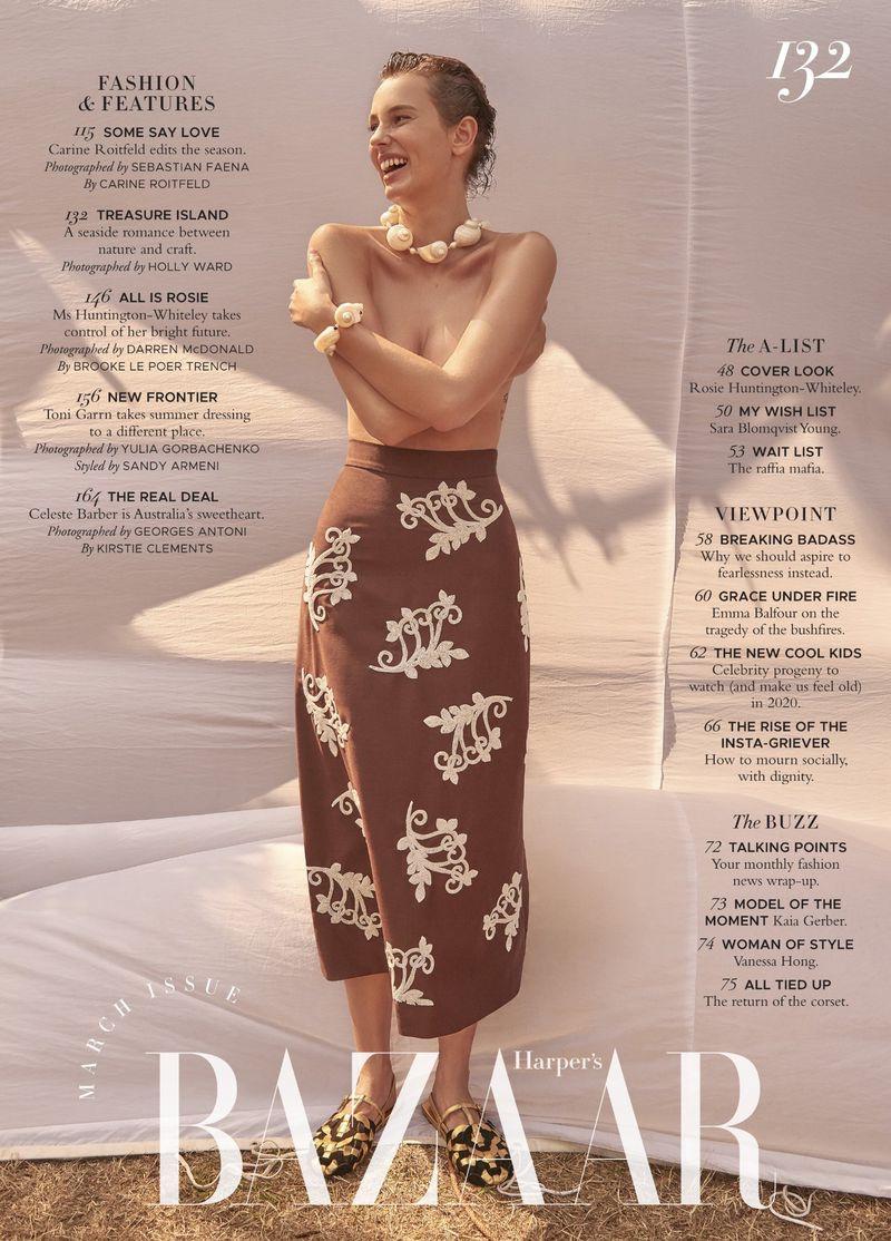 Mali Koopman Wears Breezy Beach Styles for Harper's Bazaar Australia