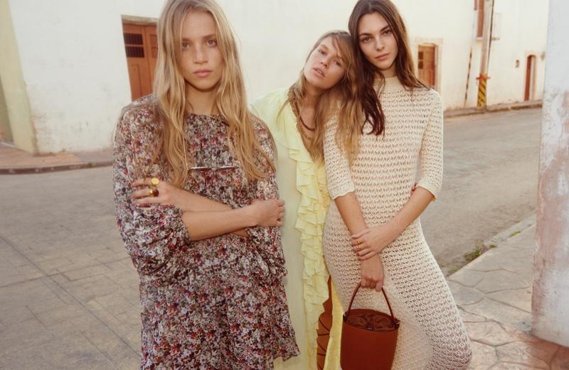 Rebecca Leigh Longendyke, Anna Ewers and Vittoria Ceretti star in Mango spring-summer 2020 campaign