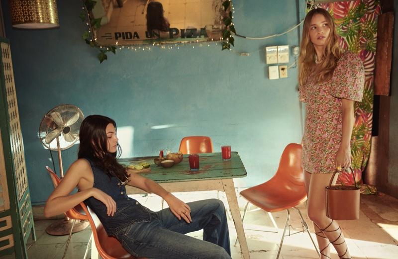 Vittoria Ceretti and Rebecca Leigh Longendyke front Mango spring-summer 2020 campaign