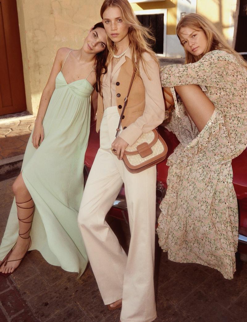 Vittoria Ceretti, Rebecca Leigh Longendyke and Anna Ewers appear in Mango spring-summer 2020 campaign
