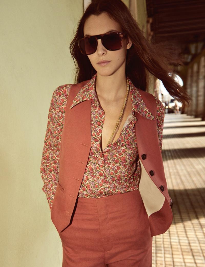 Vittoria Ceretti suits up in Mango spring-summer 2020 campaign