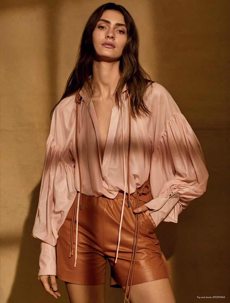Marine Deleeuw Embraces Neutral Shades for Mojeh Magazine
