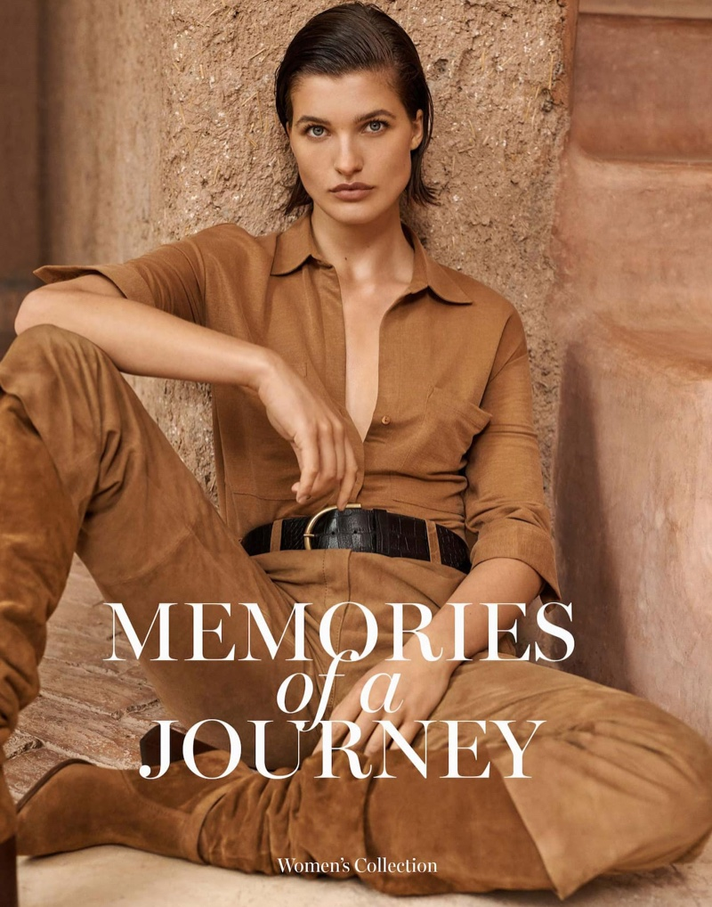 Julia Van Os stars in Massimo Dutti Memories of a Journey spring 2020 editorial