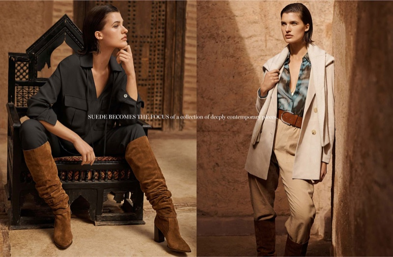 Julia Van Os fronts Massimo Dutti Memories of a Journey spring 2020 editorial