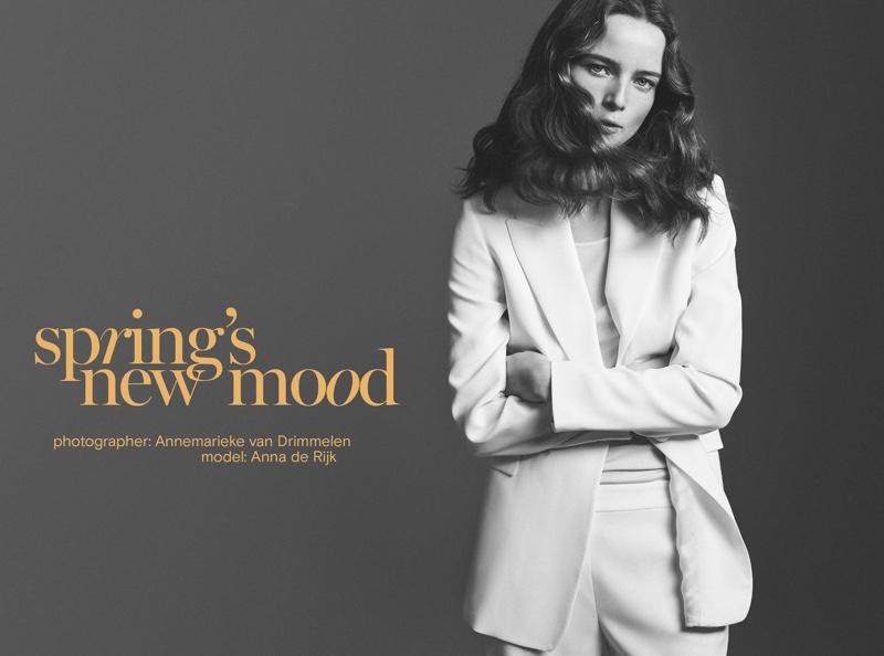 Anna de Rijk stars in Massimo Dutti Spring's New Mood trend guide