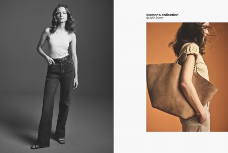 Spring's New Mood: Anna de Rijk Models Massimo Dutti's Neutral Styles