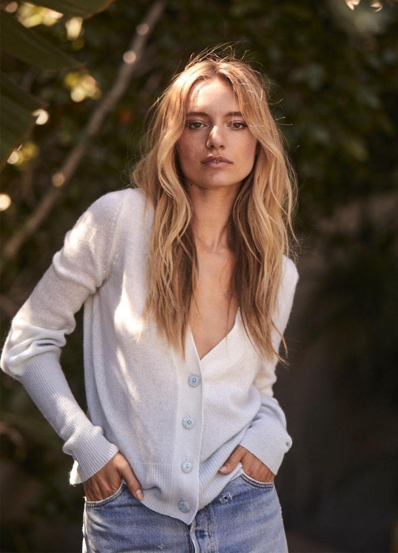 Model Maya Stepper fronts 360 Cashmere spring 2020 campaign