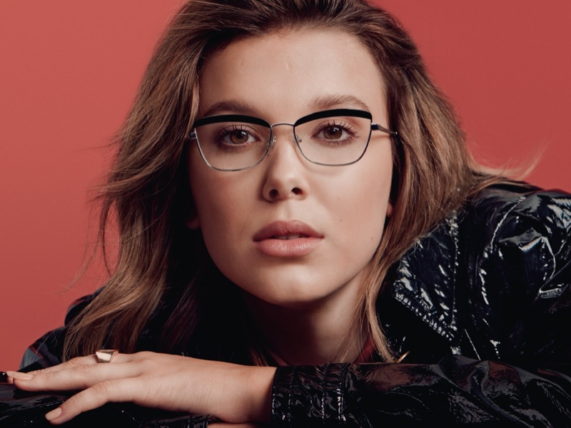 Millie Bobby Brown fronts Vogue Eyewear collaboration campaign