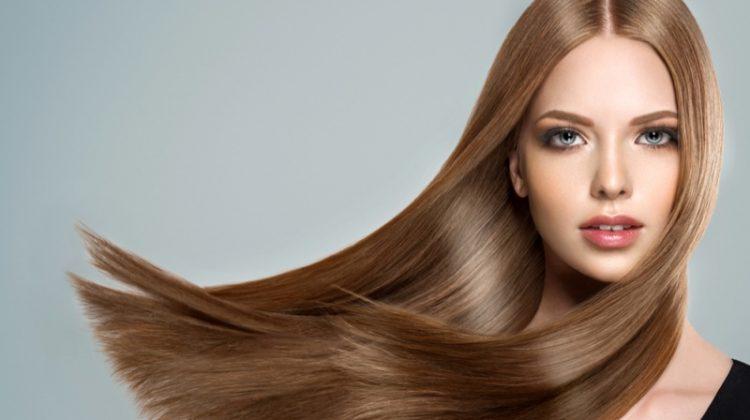 Model Long Light Brown Hair Beauty Makeup