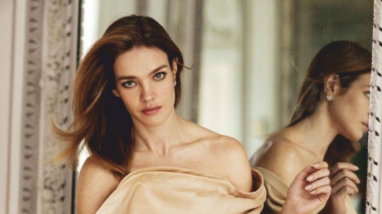 Natalia Vodianova Models Charming Looks for ELLE Spain