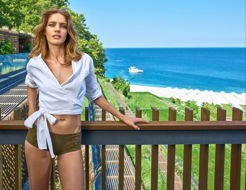 Natalia Vodianova poses in Turkey for Maxx Royal Resorts 2020 campaign