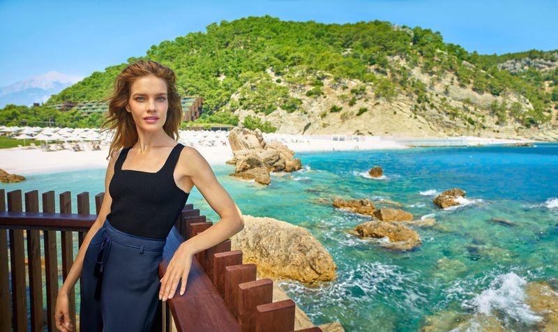 Posing seaside, Natalia Vodianova fronts Maxx Royal Resorts 2020 campaign