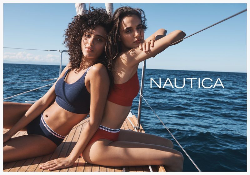 Melodie Vaxelaire and Blanca Padilla wear swimsuits in Nautica spring-summer 2020 campaign