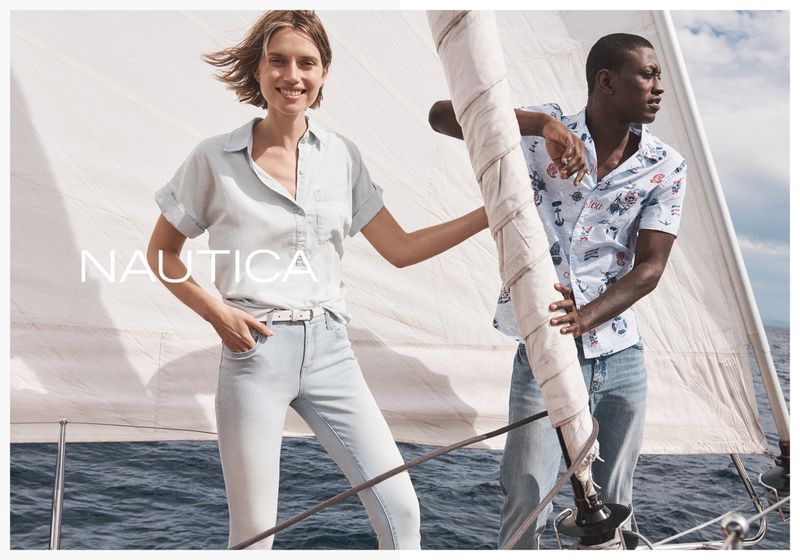 Cato Van Ee and Dominique Hollington pose for Nautica spring-summer 2020 campaign