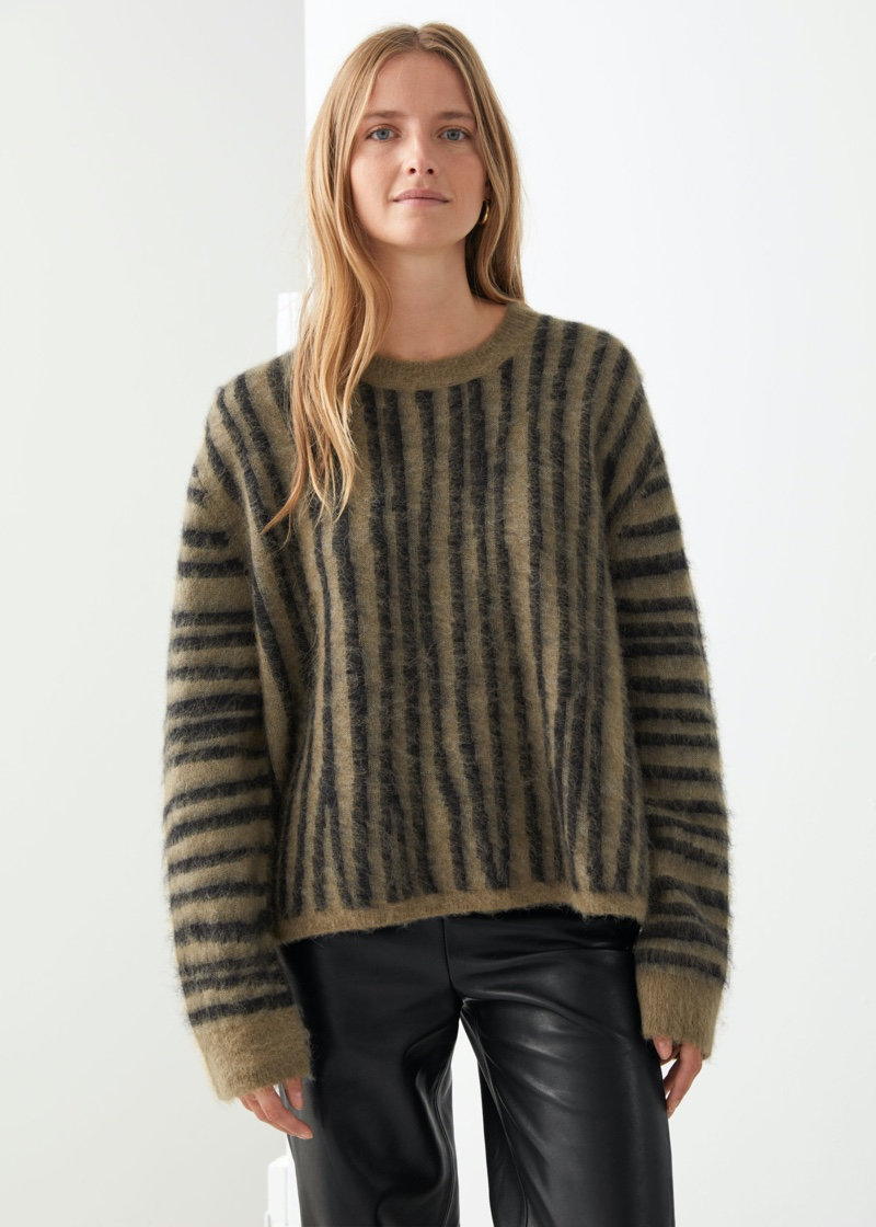& Other Stories Fuzzy Knit Sweater $99