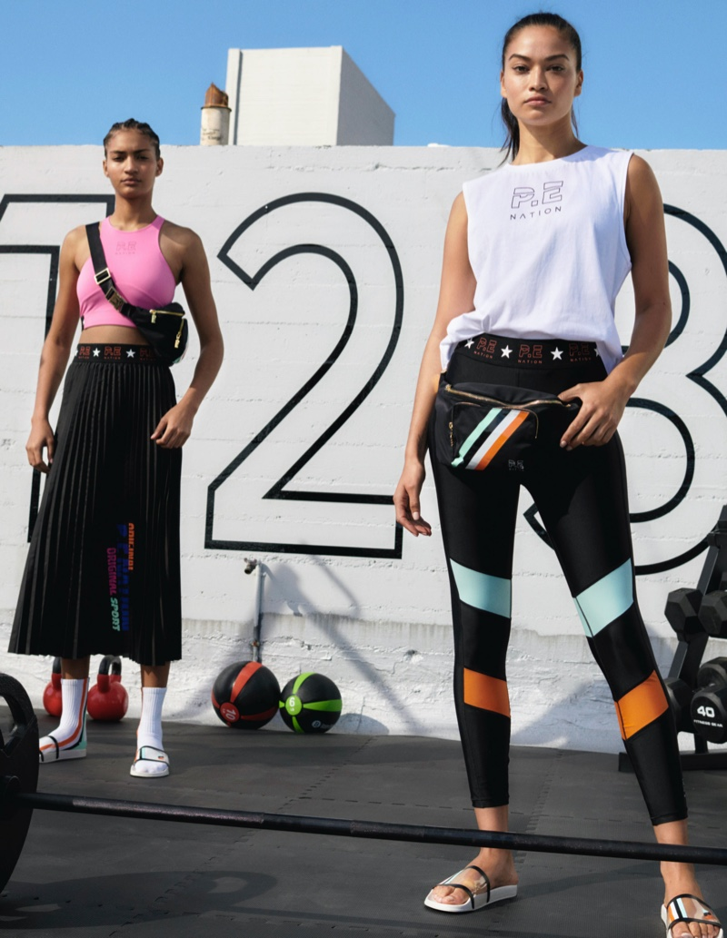 Looks from P.E. Nation x H&M collaboration