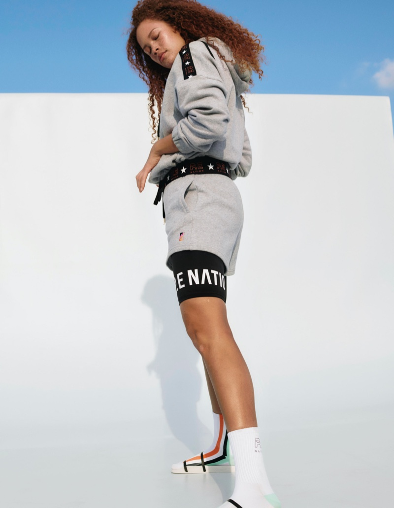 Sabina Karlsson appears in P.E. Nation x H&M campaign