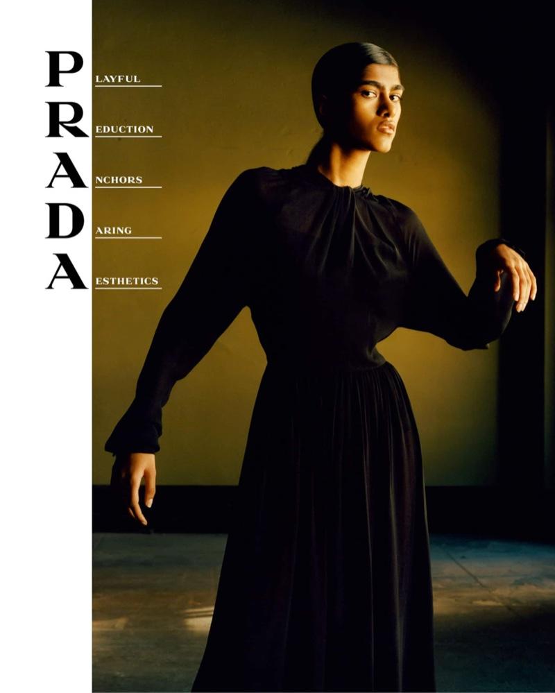 Ashley Radjarame stars in Prada spring-summer 2020 campaign