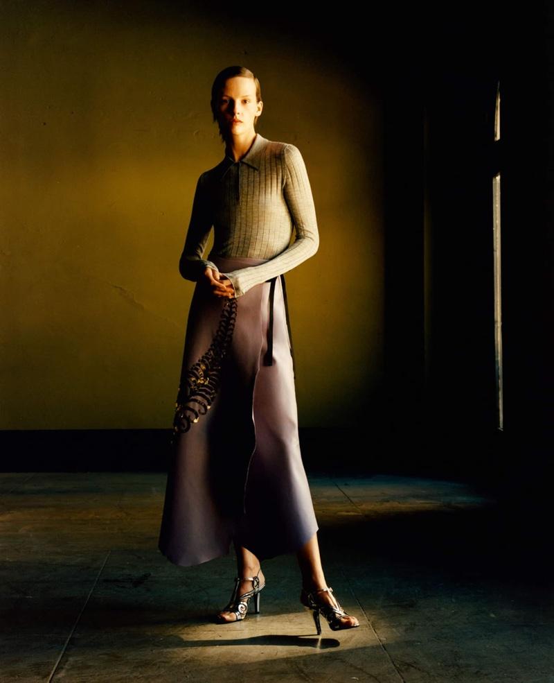 Model Sara Blomqvist fronts Prada spring-summer 2020 campaign