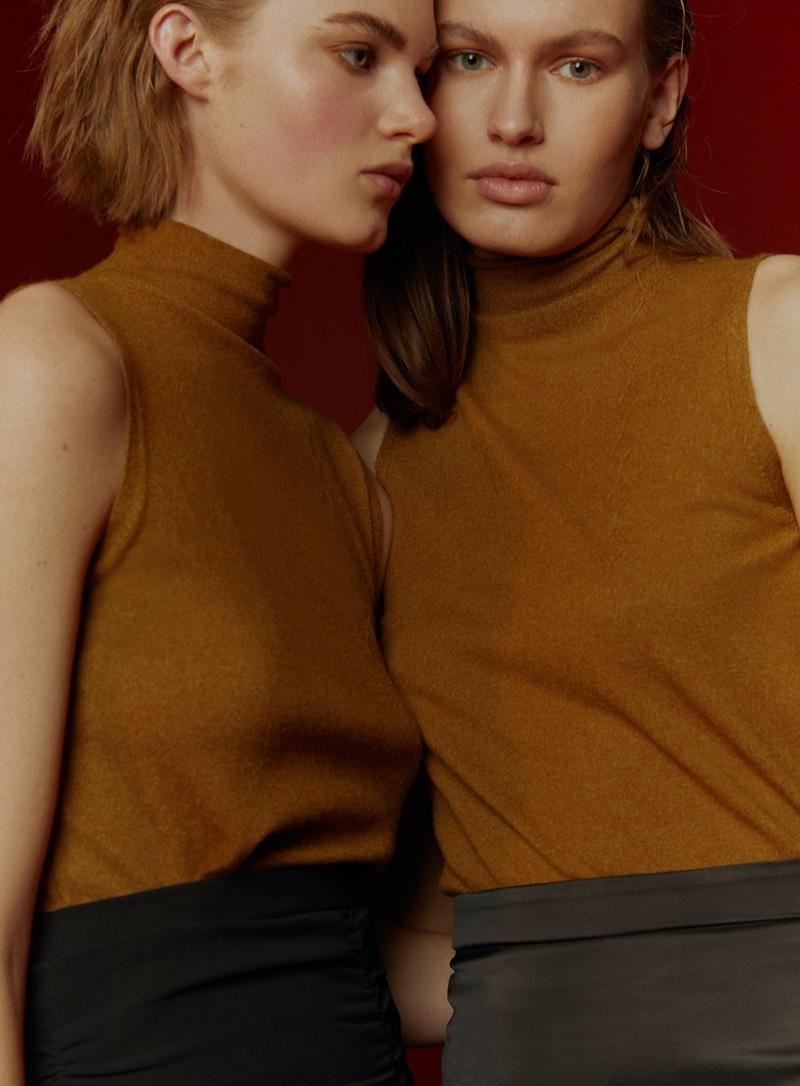 Puck, Elke & Emma Wear Monochrome Looks for Marie Claire Turkey
