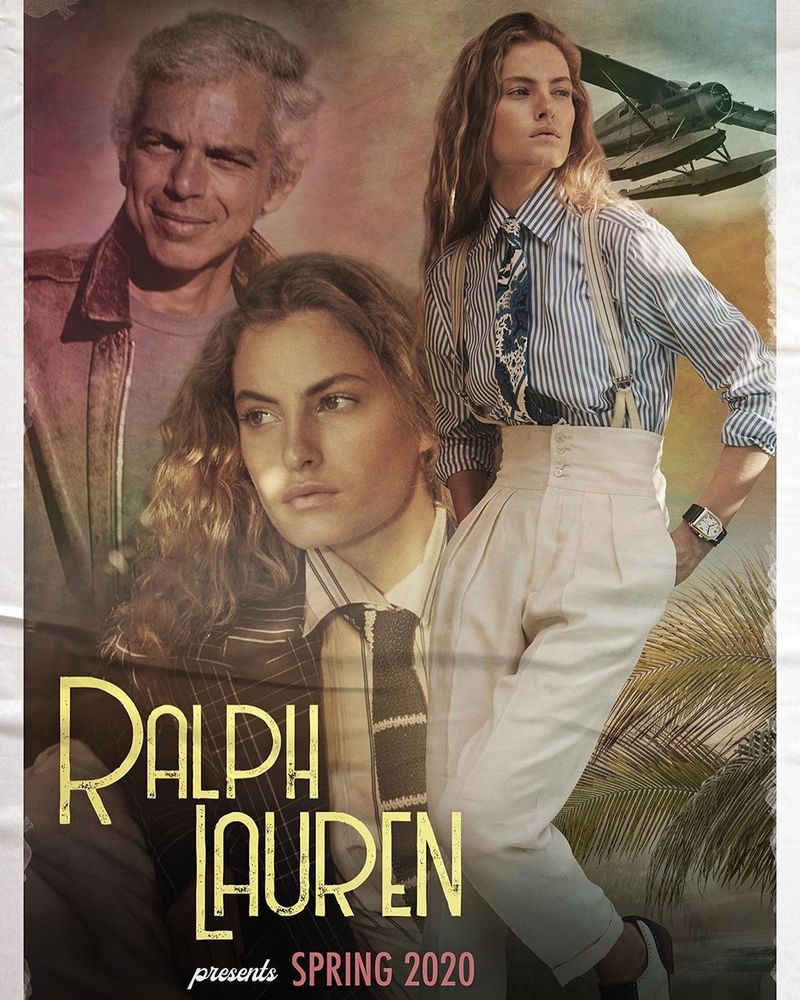 Ralph Lauren channels a retro movie poster for spring-summer 2020 campaign