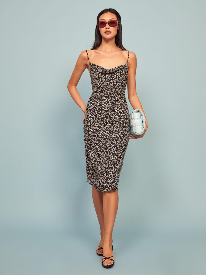Reformation Astrid Dress in Spiral $158