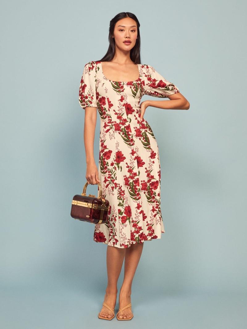 Reformation Beechwood Dress in Georgette $248