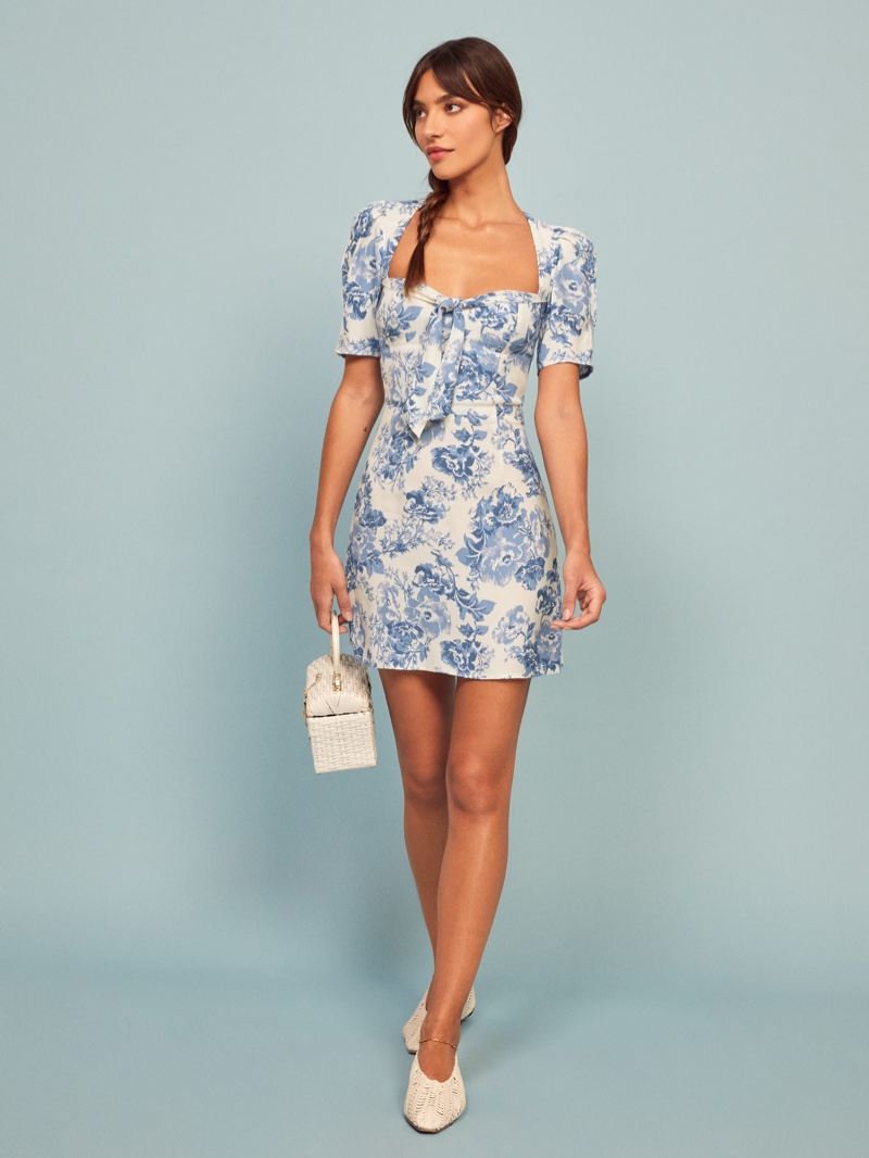 Reformation Grant Dress in Olympia $218