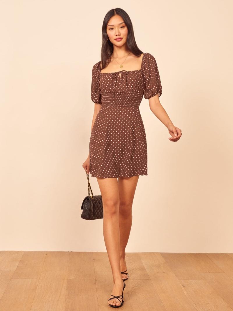 Reformation Jo Dress in Cappuccino $248