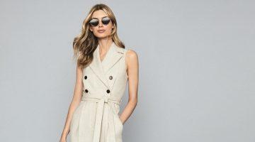 Reiss Lauren Wool Linen Blend Jumpsuit $540