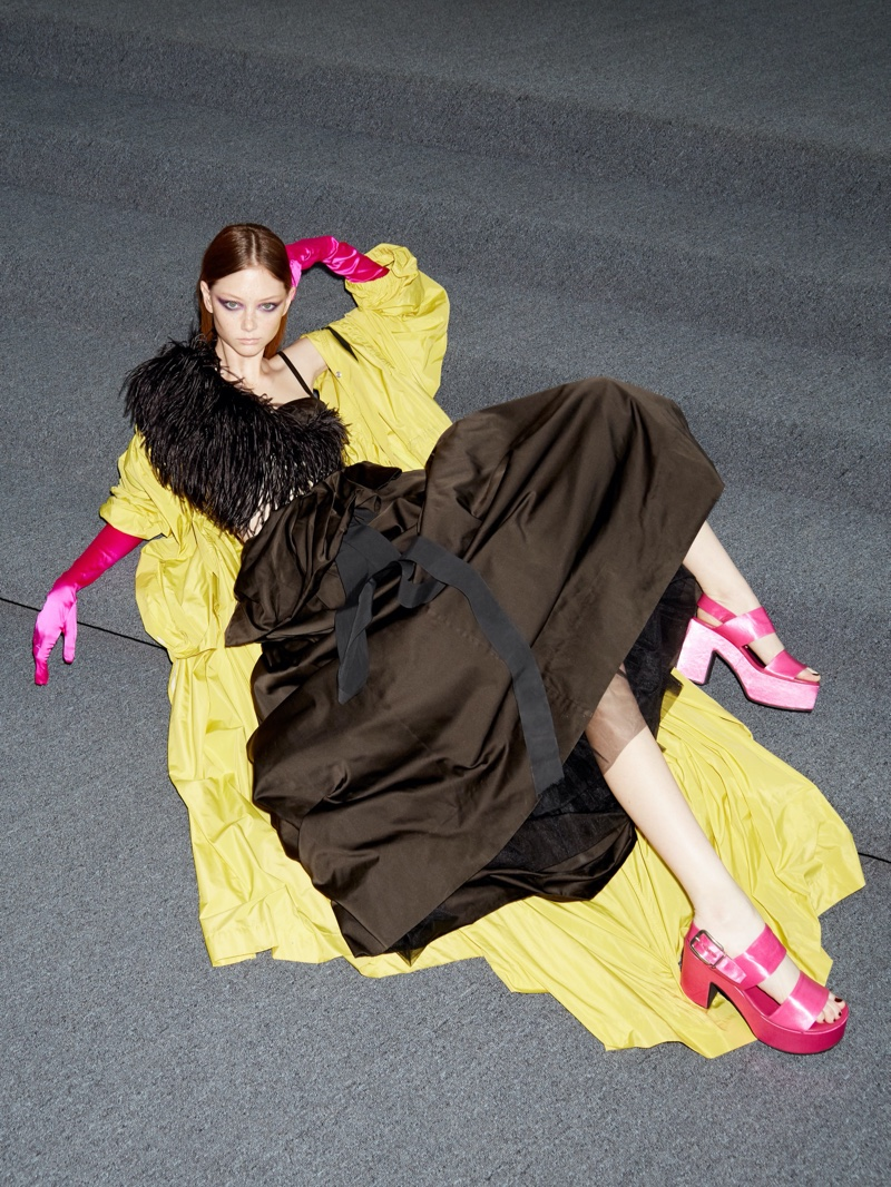 Sara Grace Wallerstedt Poses in the Spring Collections for Bergdorf Goodman