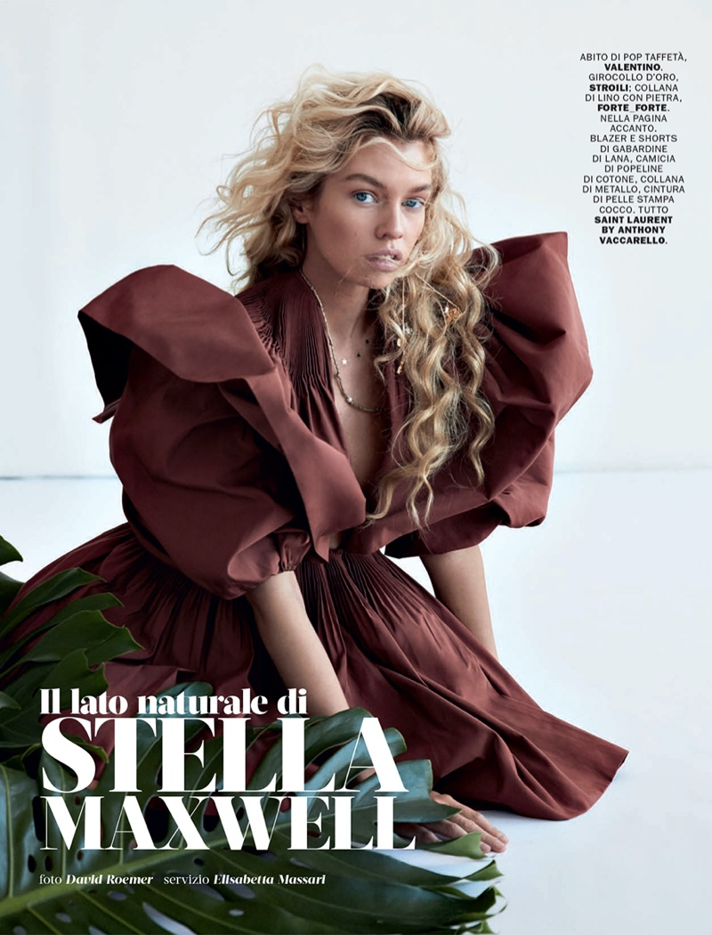 Stella Maxwell Models Sophisticated Styles for Marie Claire Italy