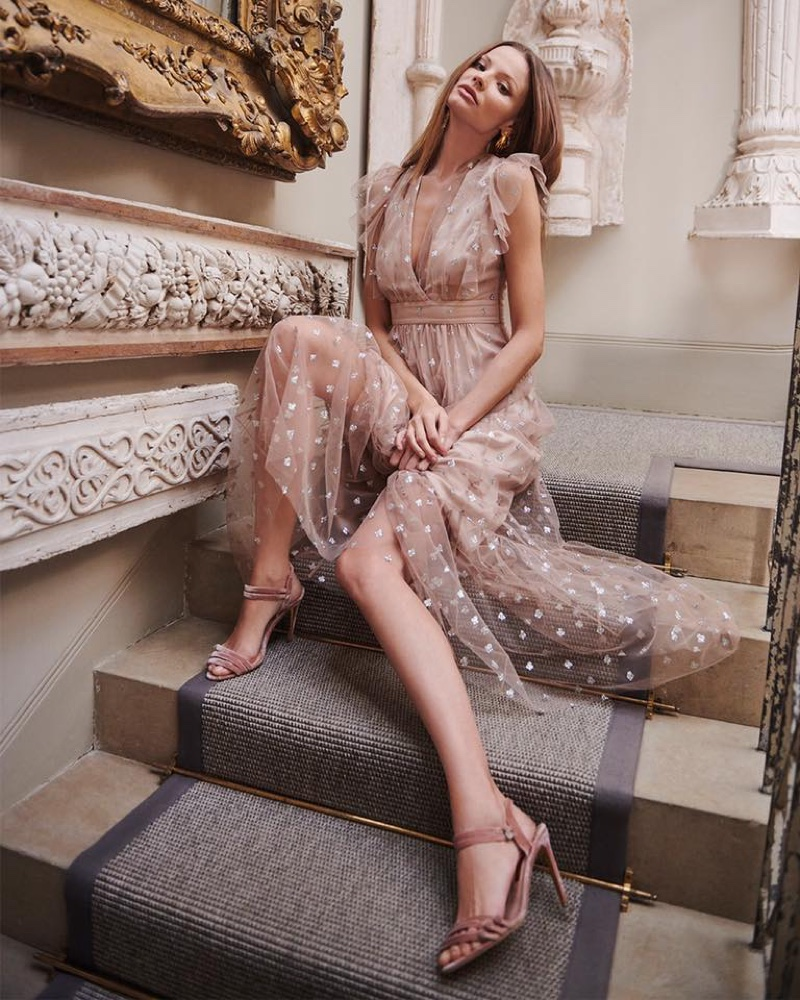 Temperley London spotlights sparkling dresses in spring 2020 campaign