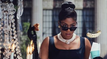 Tiffany Haddish channels Audrey Hepburn in Breakfast at Tiffany's for Harper's Bazaar
