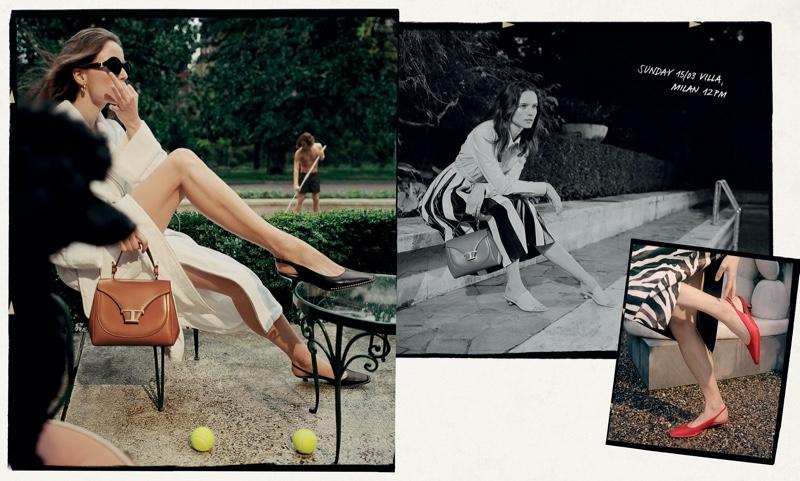 Anna de Rijk stars in Tod's spring-summer 2020 campaign